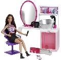 Barbie Beauty Sallon and Doll Mattel, BRB BEAUTY SALON & DOLL BRUNETTE