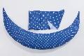 Perna pentru gravide si alaptat DreamWizard 10 in 1 Nuvita, albastru inchis cu buline