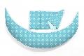 Perna pentru gravide si alaptat DreamWizard 10 in 1 Nuvita, albastru deschis cu buline