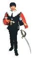 Costum pentru serbare Muschetar cu sabie 128 cm