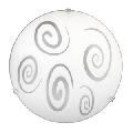 Plafoniera Spiral E27 1x MAX 60W