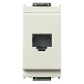 Priza modulara telefon RJ11 6/4 contacte 1 modul Vimar Idea