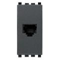 Priza modulara telefon RJ11 6/4 gri antracit Vimar Eikon