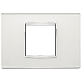 Rama ornament 2 module centrale Glass Silver Mirror Eikon Chrome