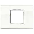 Rama ornament 2 module centrale Glass White Ice Eikon Chrome