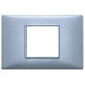 Rama ornament 2 module centrale Metal albastru metalizat