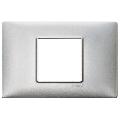 Rama ornament 2 module centrale Metal argintiu metalizat