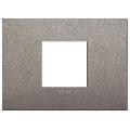 Rama ornament 2 module centrale Metal Matt Titanium Vimar Arke