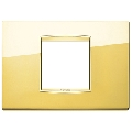 Rama ornament 2 module centrale Polished Gold Eikon Chrome