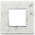 Rama ornament 2 module Stone Carrara White Eikon Evo