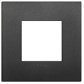 Rama ornament 2 module Technopolymer Black Vimar Arke
