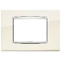 Rama ornament 3 module Bright Antique White Eikon Chrome