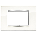 Rama ornament 3 module Glass White Ice Eikon Chrome