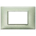Rama ornament 3 module Metal verde metalizat