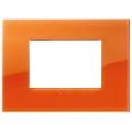 Rama ornament 3 module Reflex Orange Vimar Arke
