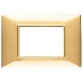Rama ornament 3 module Tehnopolimer auriu lucios