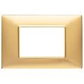 Rama ornament 3 module Tehnopolimer auriu mat