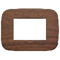 Rama ornament 3 module Wood Walnut Vimar Arke