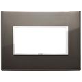 Rama ornament 4 module Aluminium Black Sapphire Eikon Evo