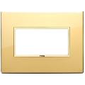 Rama ornament 4 module Aluminium Polished Gold Eikon Evo