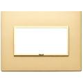 Rama ornament 4 module Aluminium Satin Gold Eikon Evo