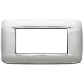 Rama ornament 4 module Bright Metallic Silver Eikon Chrome