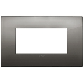 Rama ornament 4 module Metal Black Chrome Vimar Arke