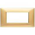 Rama ornament 4 module Tehnopolimer auriu mat