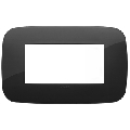 Rama ornament 4 module Tehnopolimer Black Vimar Arke