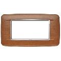 Rama ornament 4 module Wood Italian Walnut Eikon Chrome
