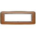 Rama ornament 7 module Wood Italian Walnut Eikon Chrome