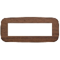 Rama ornament 7 module Wood Walnut Vimar Arke