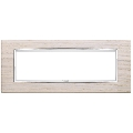 Rama ornament 7 module Wood White Oak Eikon Chrome