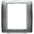 Rama ornament 8 module Bright Atlantic Grey Eikon Chrome