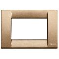 Rama ornament Classica 3 module bronz metalizat Vimar Idea