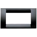 Rama ornament Classica 4 module negru Vimar Idea