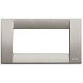 Rama ornament Classica 4 module titanium metalizat Vimar Idea