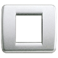 Rama ornament Rondo 1 si 2 module reduse argintiu metalizat Vimar Idea