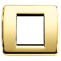 Rama ornament Rondo 1 si 2 module reduse auriu lucios Vimar Idea