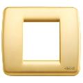 Rama ornament Rondo 1 si 2 module reduse auriu mat Vimar Idea