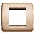 Rama ornament Rondo 1 si 2 module reduse bronz metalizat Vimar Idea