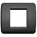 Rama ornament Rondo 1 si 2 module reduse negru Vimar Idea