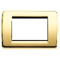 Rama ornament Rondo 3 module auriu lucios Vimar Idea