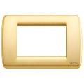 Rama ornament Rondo 3 module auriu mat Vimar Idea