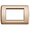 Rama ornament Rondo 3 module bronz metalizat Vimar Idea