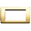 Rama ornament Rondo 4 module auriu lucios Vimar Idea