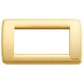 Rama ornament Rondo 4 module auriu mat Vimar Idea
