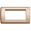 Rama ornament Rondo 4 module bronz metalizat Vimar Idea