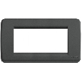 Rama ornament Rondo 4 module negru Vimar Idea