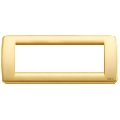 Rama ornament Rondo 6 module auriu mat Vimar Idea